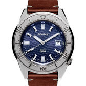 SQUALE 鯊魚錶 1521海洋系列機械錶-藍x咖啡/42mm 1521ODG.PS