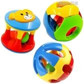 嬰兒玩具0-1歲寶寶手抓球叮當球五彩感官球鈴鐺球洞洞球搖鈴響鈴 育心館