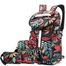 新款大容量行李旅行雙肩男女韓版潮運動健身帆布輕便旅游包  JL2572『miss洛雨』TW