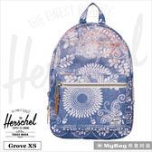 Herschel 後背包 Grove X-Small 丹寧拔染印花 休閒後背包 Grove XS-1853 MyBag得意時袋
