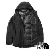 【THE NORTH FACE 美國】女 GORE-TEX二件式羽絨連帽外套『黑色』NF0A46I7 戶外 登山 保暖外套