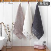 3條裝小方巾純棉洗臉家用全棉吸水