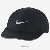 NIKE 運動帽 FEATHERLIGHT 黑色 反光 透氣 帽子 (布魯克林) DC4090-010
