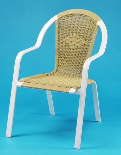 【南洋風休閒傢俱】戶外餐椅系列 -鋁管編織椅 蓮花藤椅 戶外休閒餐椅 編藤餐椅  (HC025)