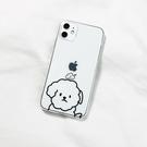 蘋果iphoneXS手機殼11 pro max保護套7/8plus簡約線條狗xr女6