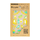 免熨手製轉印貼/野餐(黃綠)【Irodo】