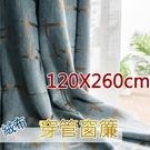 遮光窗簾雲蒸霞蔚 免費修改高度 寬120X高260cm絨布時尚穿管窗簾 臺灣加工【微笑城堡】