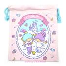 asdfkitty可愛家-雙子星毛巾布材質束口袋/收納袋/置物袋-也可當禮物袋-日本正版商品