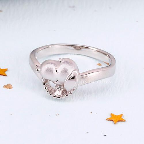 史努比SNOOPY-期待-銀飾戒指