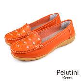 【Pelutini】donna 復古亮片刺繡休閒鞋 橘色(W096-OR)