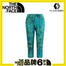【The North Face 女 FLASHDRY七分緊身褲《芽綠印花》】CA3E/運動/快乾/長褲/健身