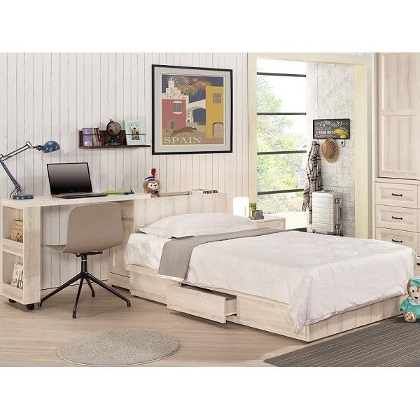 床架 MK-573-1 雪莉3.5尺多功能型單人床 (床頭+床底)(不含床墊) 【大眾家居舘】