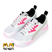 PUMA X-Ray Lite Jr 鞋帶款 運動鞋 大童鞋 白粉色 NO.R5810