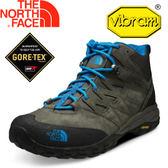 【The North Face 男款 GORE-TEX中筒登山鞋 灰咖啡/奧斯特藍】NF00CLW2/★滿額送