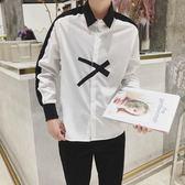 襯衫 襯衫男正韓長袖白襯衣白色寸衣外套男士潮流學生裝衣服寬鬆 全館免運