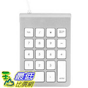 [104美國直購]  數字鍵盤 搭配 Keyboard ST-2UNK Satechi Aluminum Finish USB Numeric Keypad for iMacs and PC