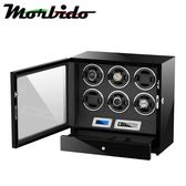 Morbido蒙彼多 觸控式自動機械錶收藏盒/自動上鍊盒(6只+首飾收納)