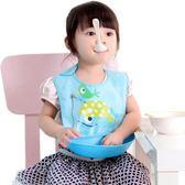 寶寶食飯兜防水兒童圍嘴嬰兒吃飯圍兜小孩口水幼兒喂飯兜兜硅膠仿