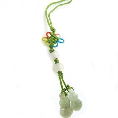 緬甸玉迷你雙葫蘆吊飾
