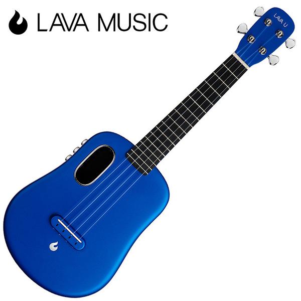 LAVA U 拿火烏克麗麗-23吋/L2 mini /Free Boost/碳纖維材質/插電加震款/藍色