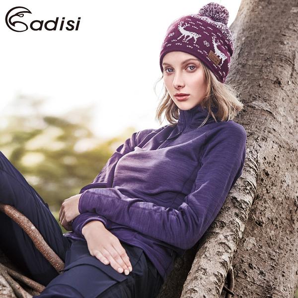 ADISI 女半門襟Power Stretch pro保暖上衣AL1621093 (S~XL) / 城市綠洲專賣(抗臭、四面彈、透氣、乾爽)