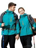 衝鋒衣 冬季沖鋒衣男女三合一加厚兩件套防風防水透氣西藏戶外潮牌登山服 城市科技 DF