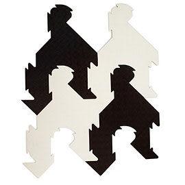 【促銷】【Dot Design】無毒/無甲醯胺/台灣製 千鳥格地墊(黑白組合-16入/1組)