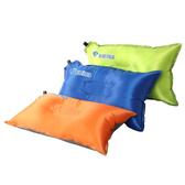 【PUSH!】戶外休閒用品自動充氣枕頭頭枕辦公室午憩枕頭P105果綠