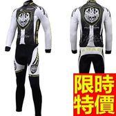 自行車衣套裝-有型個性熱銷隨意男長袖單車衣14色55u8[時尚巴黎]