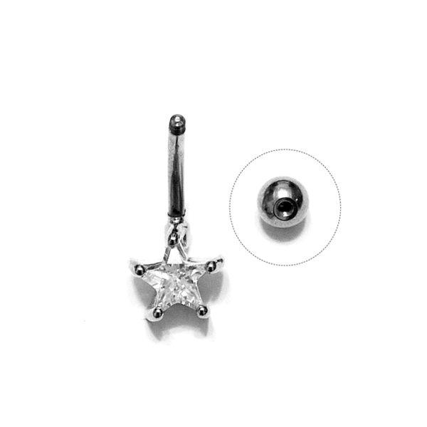 316L 醫療鋼 1.6mm孔 旋轉式粗針肚臍環專用轉珠塞 防抗過敏 單支販售
