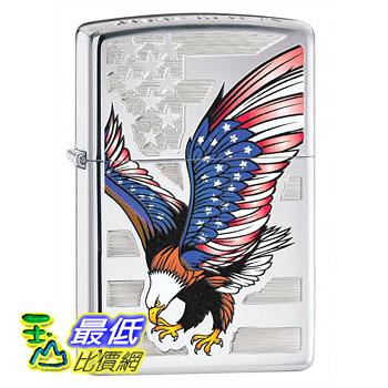 [104 美國直購] Zippo Eagle Flag Pocket Lighter 打火機