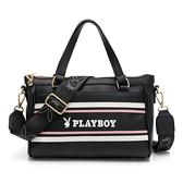 PLAYBOY- 手提包附長背帶 美學系列 -黑色