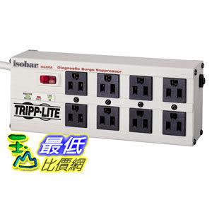 [104美國直購] Tripp Lite ISOBAR8ULTRA Isobar Surge Protector Metal 8 Outlet 12 feet Cord 3840 Joules 電源插..
