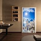地中海門貼 2入 3D立體壁貼 貼紙 假窗壁紙 沂軒精品 E0066 台灣現貨