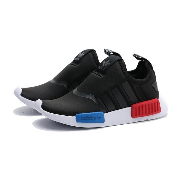 ADIDAS 休閒鞋 NMD 360 C 黑 紅藍 運動 童鞋 中童 (布魯克林) EE6352