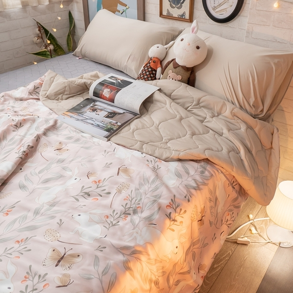 複合式涼感涼被乙件(5X6尺) 天絲60支+涼感紗 台灣製造 棉床本舖【可另加購枕套】 涼被 夏季推薦