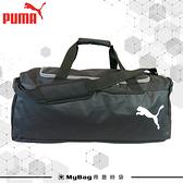 PUMA 旅行袋 黑色 經典素面LOGO 行李袋 運動包 側背包 M號 075528 得意時袋