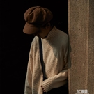 危機青年 日系復古秋冬畫家八角帽男女 百搭純色報童英倫貝雷帽子 3C優購