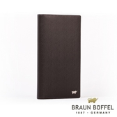【BRAUN BUFFEL】德國小金牛HOMME-M系列極光紋17卡零錢袋長夾(咖啡)BF306-301-ENY