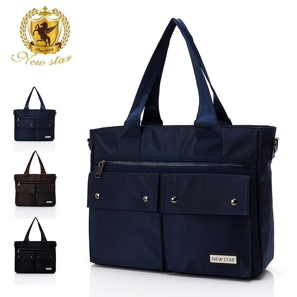 肩背包 日系簡約防水多口袋側背包包 托特包 公事包 筆電包 NEW STAR BB41