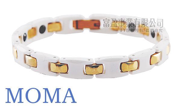 【MOMA】陶瓷鍺磁手鍊窄版-M61L