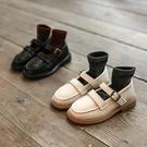 新款兒童小皮鞋女童軟底公主鞋男童英倫風單鞋平底豆豆鞋【淘嘟嘟】