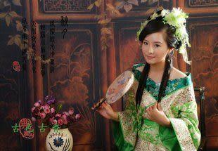 品衣江南/綠色古裝/修身唐裝漢服/太平公主/GZ061