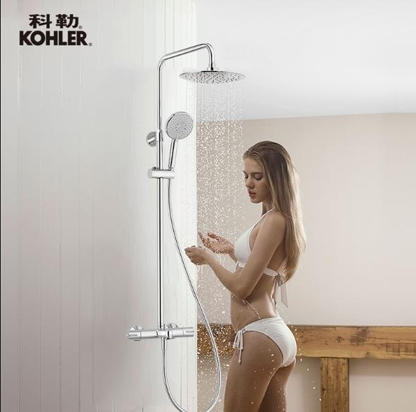 【麗室衛浴】美國第一品牌  KOHLER  三路定溫淋浴花灑組含下出水  K-99741T-9-CP