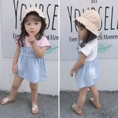 女寶寶洋氣裙子夏季小童裝2018新款女童夏裝牛仔連衣裙兒童公主裙禮物限時八九折