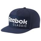 REEBOK CLASSICS FOUNDATION HAT 帽子 棒球 扣環 刺繡   藍 白 【運動世界】AO0039