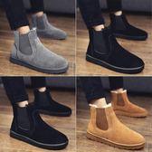 男士雪地靴冬季男鞋加絨保暖靴子男防水馬丁靴一腳蹬懶人面包棉鞋 童趣屋