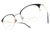 PAUL HUEMAN 光學眼鏡 PHF181-1D C5-1 (黑-金) 韓系潮流貓眼款 # 金橘眼鏡