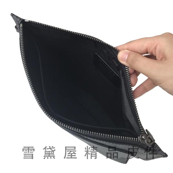 ~雪黛屋~COACH 手拿包中容量國際正版保證進口防水防刮皮革拉鍊式主袋品證購證塵套提袋C295081