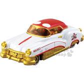〔小禮堂〕迪士尼 米奇 TOMICA小汽車《紅白金.老爺車》模型.玩具.公仔 4904810-89946